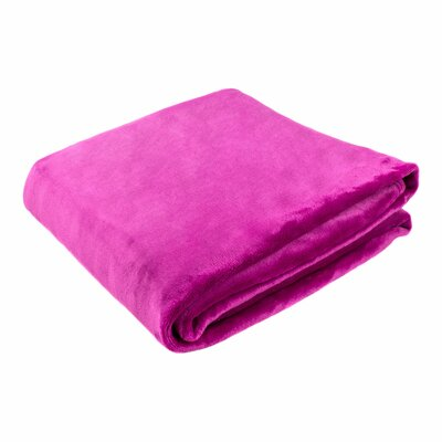 Morgana Solid Plush Blanket Color: Magenta, Size: 94 H x 80 W x 0.5 D