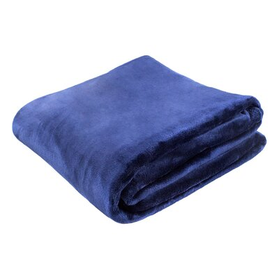 Morgana Solid Plush Blanket Size: 80 H x 60 W x 0.5 D, Color: Navy
