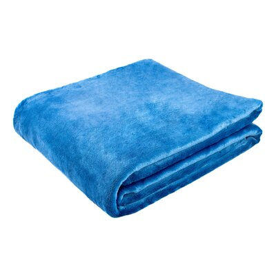 Morgana Solid Plush Blanket Color: Teal, Size: 94 H x 80 W x 0.5 D