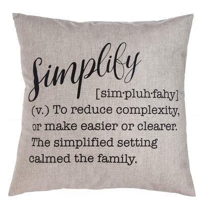 Sienna Simplify Throw Pillow