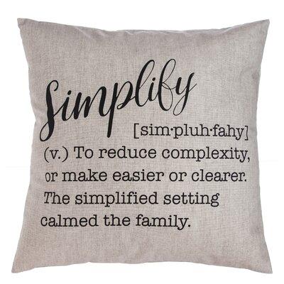 Sienna Simplify Throw Pillow