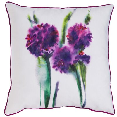 Massey Watercolor Flower Indoor/Outdoor Throw Pillow