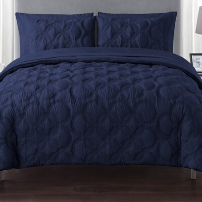 Clyde Bed in a Bag Set Color: Navy, Size: Twin