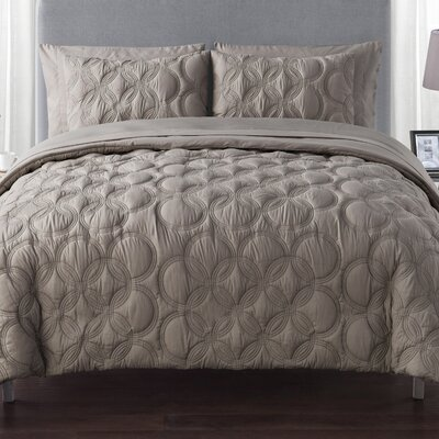 Clyde Bed in a Bag Set Color: Taupe, Size: King