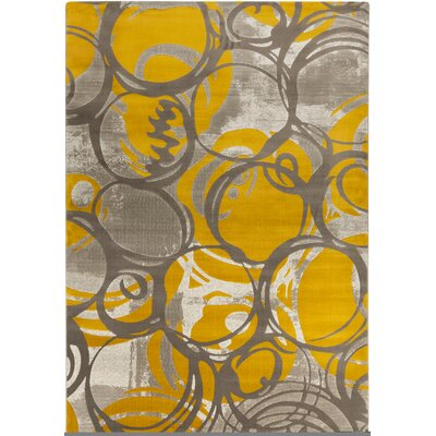 Clifford Gold/Gray Area Rug Rug Size: 52 x 76