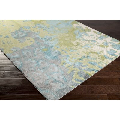 Audrina Teal/Green Area Rug Rug Size: 22 x 3