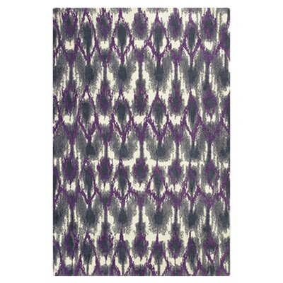 Gramercy Park Horizon Grey & Purple Area Rug Rug Size: 33 x 53
