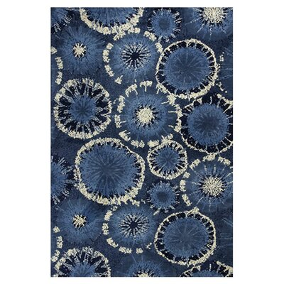 Cormac Starburst Blue Area Rug Rug Size: 33 x 53