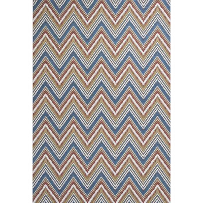 Cherry Multi Chevron Indoor/Outdoor Area Rug Rug Size: 53 x 77