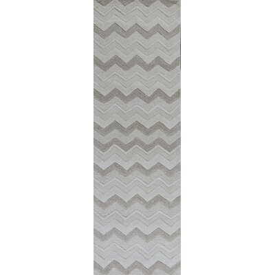 Courtney Ivory Chevron Area Rug Rug Size: 33 x 53