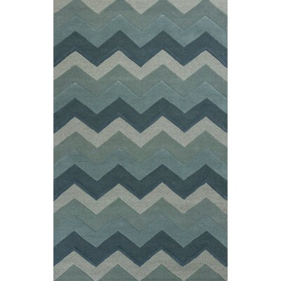Courtney Ocean Chevron Area Rug Rug Size: 5 x 8