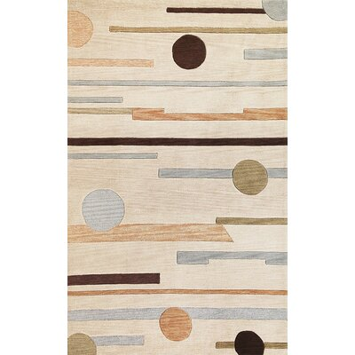 Correa Beige Horizons Rug Rug Size: Rectangle 33 x 53
