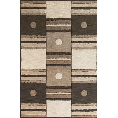 Correa Ivory/Mocha Dominoes Rug Rug Size: Rectangle 5 x 76