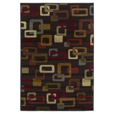 Crawford Mocha Frames Area Rug Rug Size: Rectangle 311 x 53
