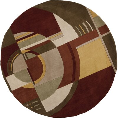 Estrada Art Deco Area Rug Rug Size: Round 76
