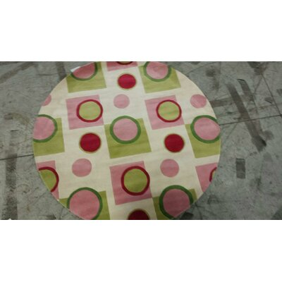 Cathryn Pink Fizz Area Rug Rug Size: Round 56