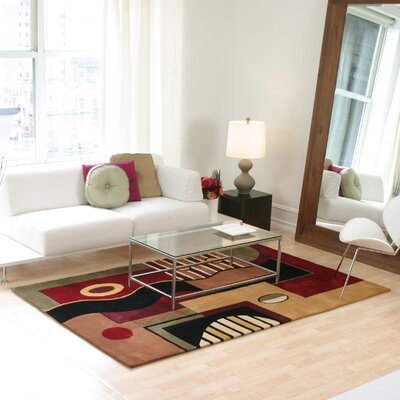 Estrada Jewel Tone Multishapes Area Rug Rug Size: 93 x 133