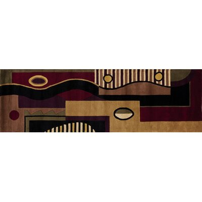Cathryn Jewel Tone Multishapes Area Rug Rug Size: Runner 26 x 8