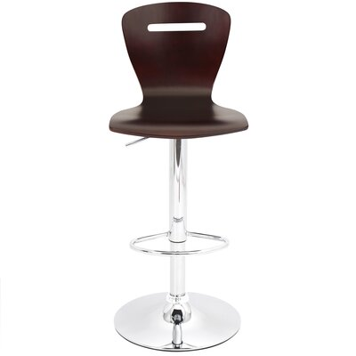 Adjustable Height Swivel Bar Stool Finish: Espresso