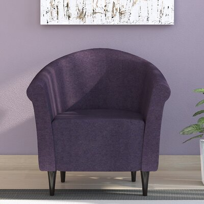 Liam Barrel Chair Upholstery: Eggplant