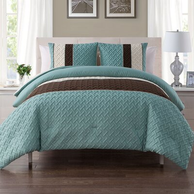 Aegean Embossed Comforter Set Size: King