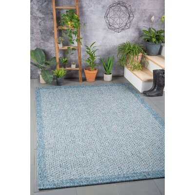Felipe Denim Indoor/Outdoor Area Rug Rug size: Runner 26 x 11