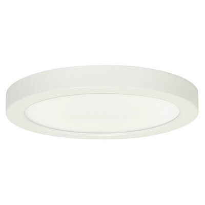 Priscilla 1-Light 2700K Flush Mount Finish: White, Size: 1 H x 9 W x 9 D