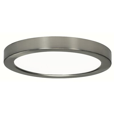 Priscilla 1-Light 2700K Flush Mount Finish: Brushed Nickel, Size: 1