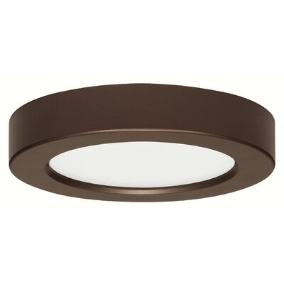 Priscilla 1-Light 2700K Flush Mount Finish: Bronze, Size: 1 H x 9 W x 9 D