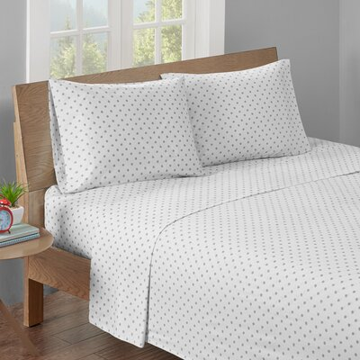 Aspen Printed Cotton Sheet Set Size: Full, Color: Gray
