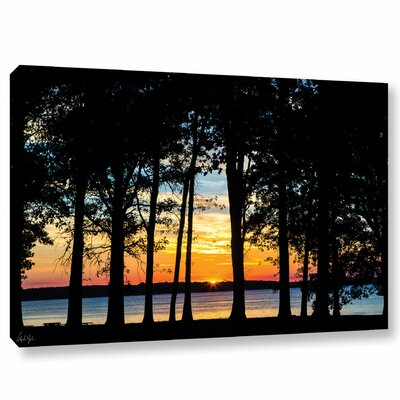 'Rend Lake Silhouette' Photographic Print on Wrapped Canvas Size: 12