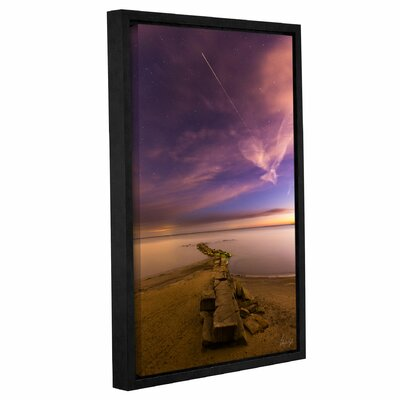 'Shooting Star at Huntington Beach' Framed Photographic Print Size: 12