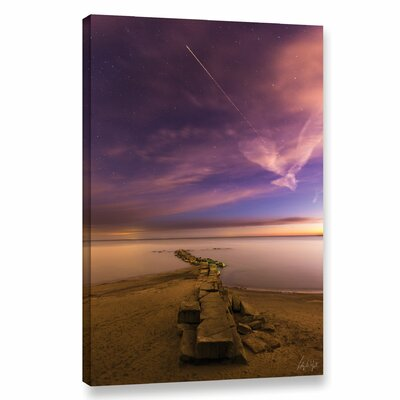 'Shooting Star at Huntington Beach' Photographic Print on Wrapped Canvas Size: 12
