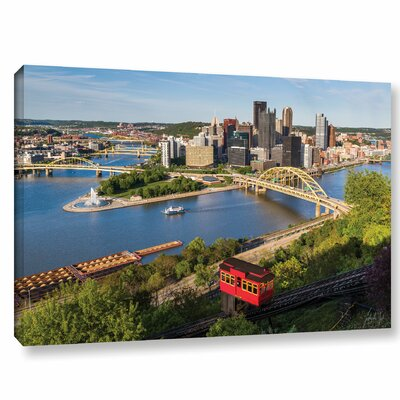 'Pittsburgh Skyline with Duquensne Incline' Photographic Print on Wrapped Canvas Size: 32