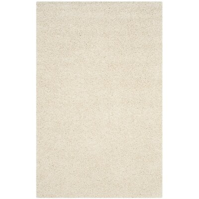 Kourtney White Area Rug Rug Size: 4 x 6