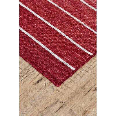 Mcdonald Hand-Loomed Red Area Rug Rug Size: Square 9