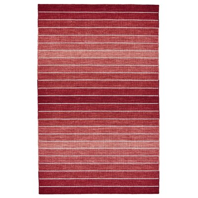 Mcdonald Hand-Loomed Red Area Rug Rug Size: 5 x 8