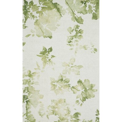 Frederick Hand-Hooked Wool Green Area Rug Rug Size: Rectangle 2 x 3