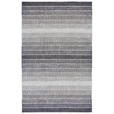 Mcdonald Hand-Loomed Light Gray Area Rug Rug Size: 96 x 136