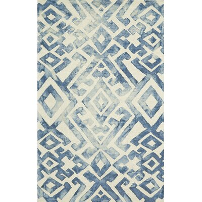 Frederick Hand-Hooked Wool Midnight Blue Area Rug Rug Size: Rectangle 2 x 3