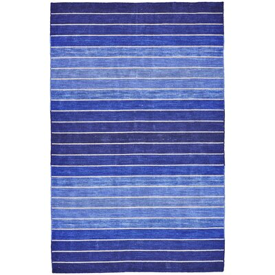 Mcdonald Hand-Tufted Cotton Blue Area Rug Rug Size: Rectangle 5 x 8