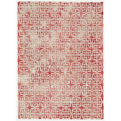 Frederick Hand-Hooked Wool Pomegranate Area Rug Rug Size: Rectangle 2 x 3