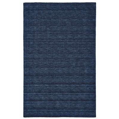 Morton Hand-Loomed Dark Blue Area Rug Rug Size: 2 x 3