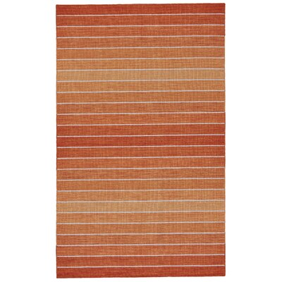 Mcdonald Hand-Loomed Orange Area Rug Rug Size: Rectangle 5 x 8