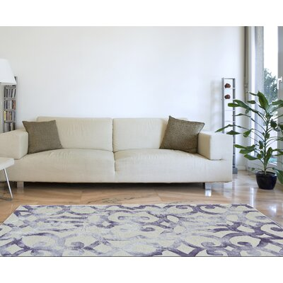 Frederick Hand-Hooked Violet Area Rug Rug Size: Rectangle 2 x 3