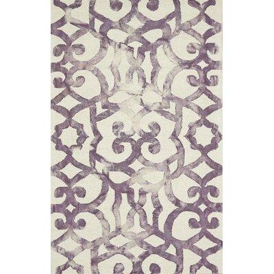 Frederick Hand-Hooked Violet Area Rug Rug Size: 2 x 3