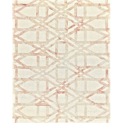 Frederick Hand-Hooked Wool Blush Area Rug Rug Size: Rectangle 8 x 11