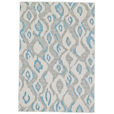Cooper Ivory/Blue Area Rug Rug Size: Rectangle 5 x 8