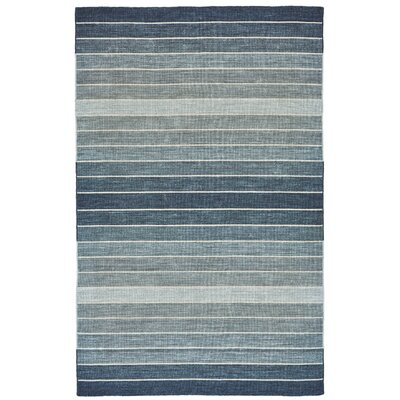 Mcdonald Hand-Loomed Denim Area Rug Rug Size: Rectangle 4 x 6