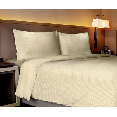 Aylin Checkered 4 Piece Sheet Set Size: Full, Color: Ivory